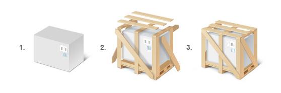 Жесткая упаковка или обрешетка