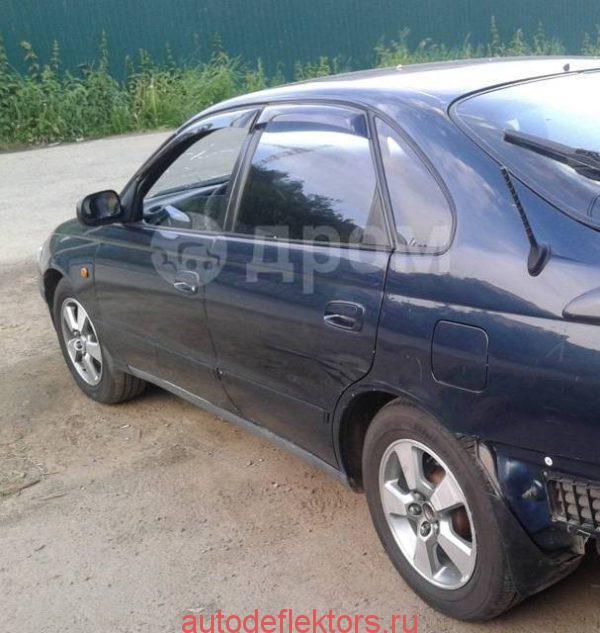 Дефлекторы окон ветровики Тойота Карина Е лифтбек/Корона SF 1992-1996