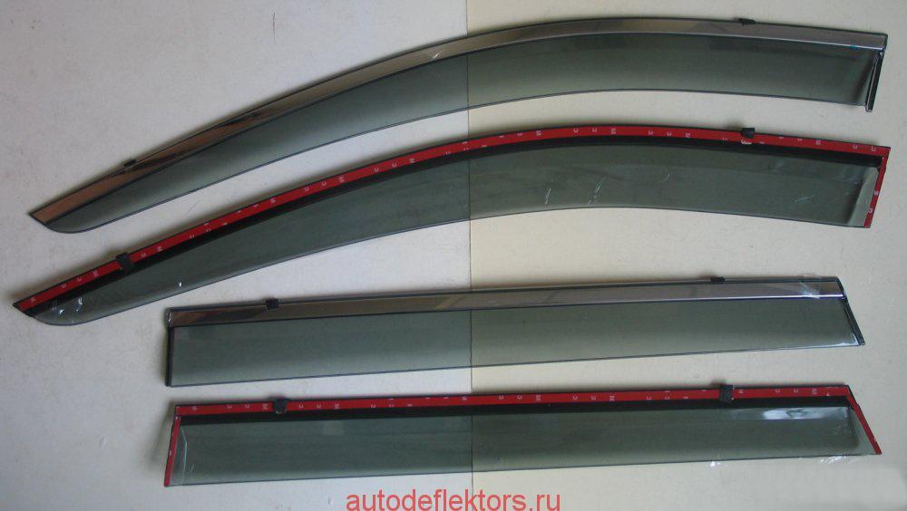 Дефлекторы окон (ветровики) с металлическим молдингом производства OEM Tuning