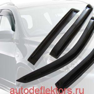 Дефлекторы окон (ветровики) CARLSTEELMAN PEUGEOT 408 2010г- (седан)