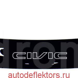 Дефлектор капота (Мухобойка) RED Honda Civic EK 1995-2001