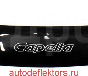 Дефлектор капота (Мухобойка) RED Mazda Capella 1997-2002