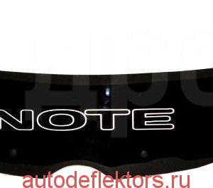 Дефлектор капота (Мухобойка) RED Nissan Note 2004-2008 прав. руль
