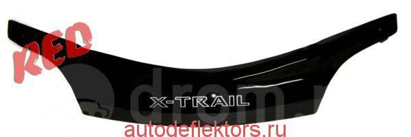 Дефлектор капота (Мухобойка) RED Nissan X-trail T30 2000-2007