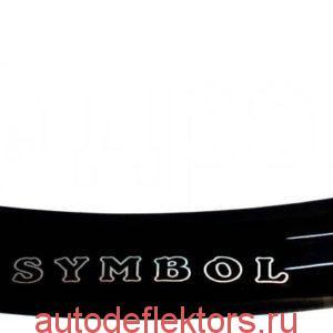 Дефлектор капота (Мухобойка) RED Renault Symbol 2008-2012