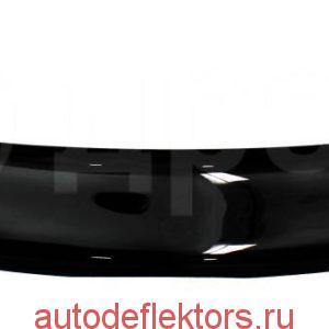 Дефлектор капота (Мухобойка) RED Hyundai Solaris 2014-2017