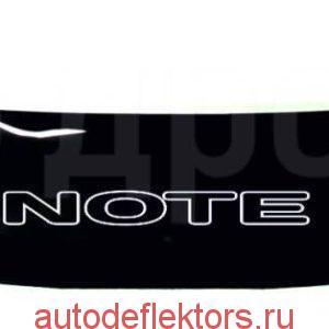 Дефлектор капота (Мухобойка) RED Nissan Note 2007-2010 лев. руль