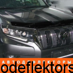 Дефлектор капота SIM на Toyota Land Cruiser Prado 150, 17-, темный арт. STOLCP1712
