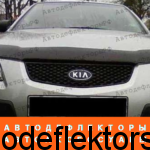 Дефлектор капота SIM на Kia Rio 05-11, темный арт. SKIRIO0512