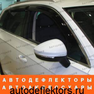 Дефлекторы окон (ветровики) SIM на Volkswagen Touareg, 2018-, 4ч., темный арт.SVOTOU1832