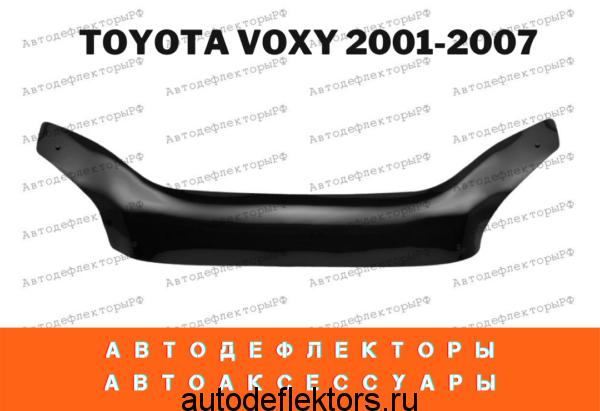 Дефлектор капота (мухобойка) RED на Toyota Voxy R60 2001-2007