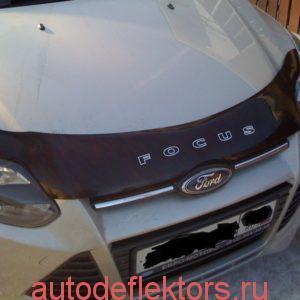 Дефлектор капота мухобойка RED Форд Фокус 3