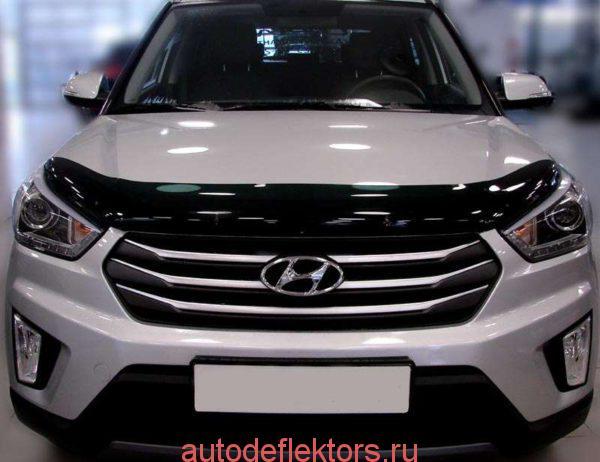 SHYCRE1112 Дефлектор капота для Hyundai Creta I (2016-2020) SIM