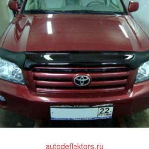 Дефлектор капота SIM на Toyota Highlander/Kluger 01- 07, темный арт. STOHIG0112