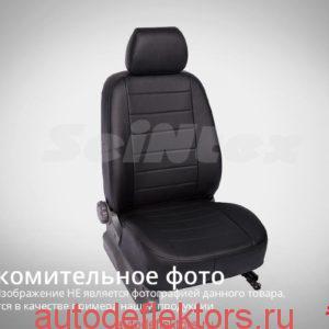 """Чехлы модельные """"Экокожа"""" SKODA Octavia A5 40 60 с подлокотником 2008-2013 черный+белый"""