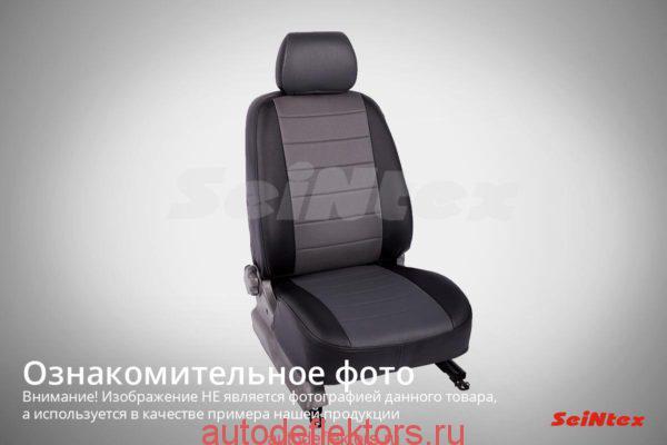 """Чехлы модельные """"Экокожа"""" VOLKSWAGEN Crafter 2008- черный+серый"""