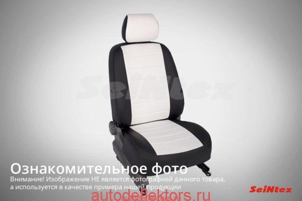 """Чехлы модельные """"Экокожа"""" FORD Transit 8g (3 места)  2014- черный"""