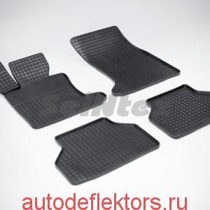 """Ковры резиновые в салон """"Сетка"""" на BMW 5 Ser E-60 2003-2010"""
