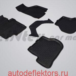 Ковры резиновые в салон с высоким бортом SEAT Leon II 2005-2012