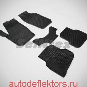 """Ковры резиновые в салон """"Сетка"""" на VOLKSWAGEN POLO Sedan 2010-"""