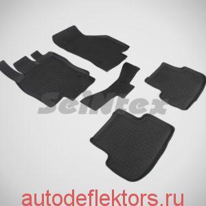Ковры резиновые в салон с высоким бортом SEAT Leon III 2013-