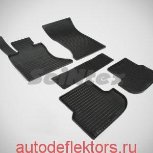 """Ковры резиновые в салон """"Сетка"""" на BMW 5 Ser F-10 4WD 2013-2017"""