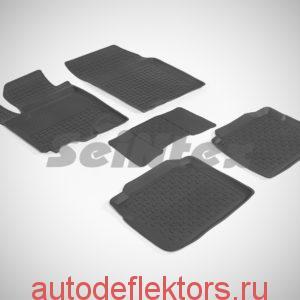 Ковры резиновые в салон с высоким бортом SUZUKI SX4 II 2013-