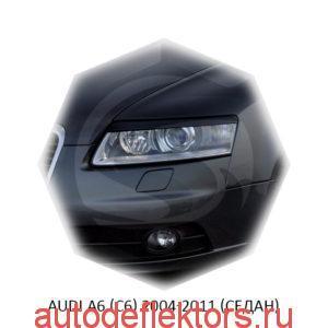 Реснички на фары Audi A6 (C6) 2004-2011 (седан)