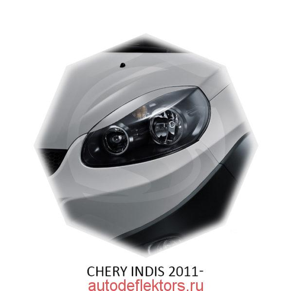 Реснички на фары Chery INDIS 2011-