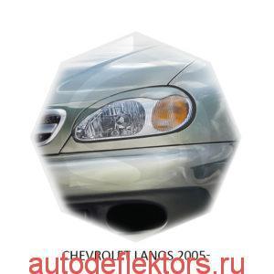 Реснички на фары Chevrolet LANOS 2005-