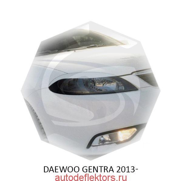 Реснички на фары Daewoo GENTRA 2013-