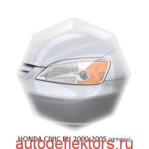 Реснички на фары Honda CIVIC EU 2000-2005 (хетчбек)