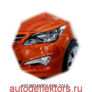 Реснички на фары Hyundai SOLARIS 2014-