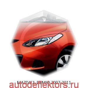 Реснички на фары Mazda 2, DEMIO 2007-2011 (хетчбек)