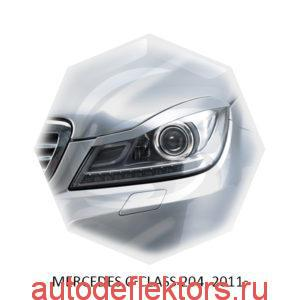 Реснички на фары Mercedes C-class 204, 2011-