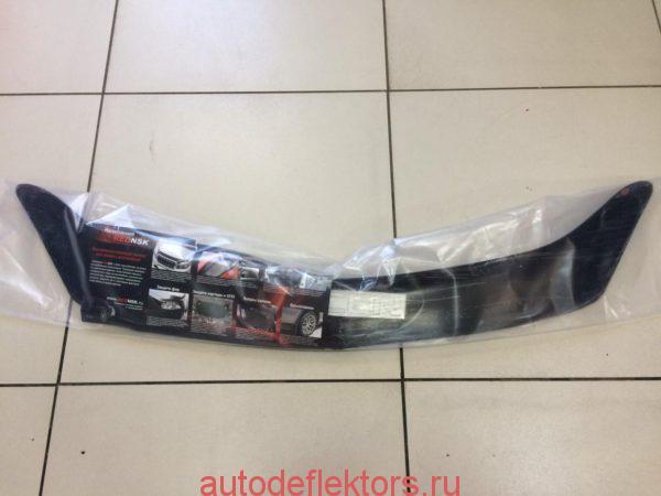Дефлектор капота мухобойка RED на Mitsubishi Lancer 9 2000-2007