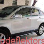 Оригинальные дефлекторы окон (ветровики) Honda CR-V 2006-2012 с металлическим молдингом