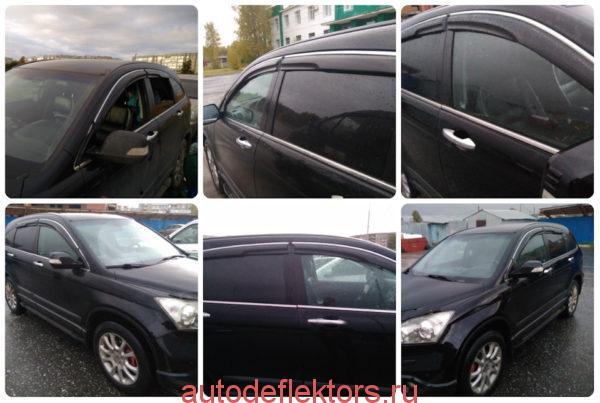 Дефлекторы окон ветровики Хонда ЦРВ 2006-2012