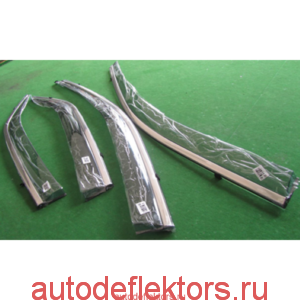 Дефлекторы окон (ветровики) Hyundai Крета 2014-