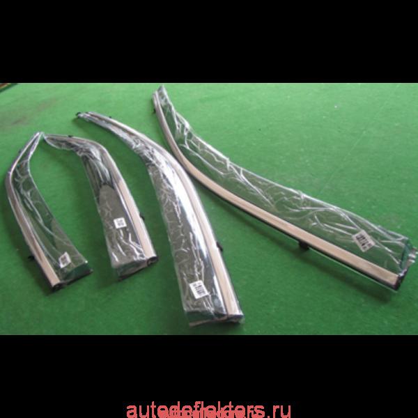 Дефлекторы окон (ветровики) Hyundai Santa Fe/IX45 13-15