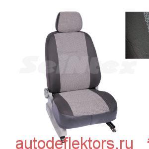 """Чехлы модельные """"Жаккард"""" на KIA Rio IV hatchback 40/60 (4 подголов) 2011-2017 темно-серый"""