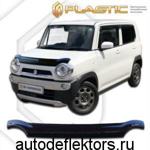Дефлектор капота (Classic черный) Suzuki Hustler 2014-2019